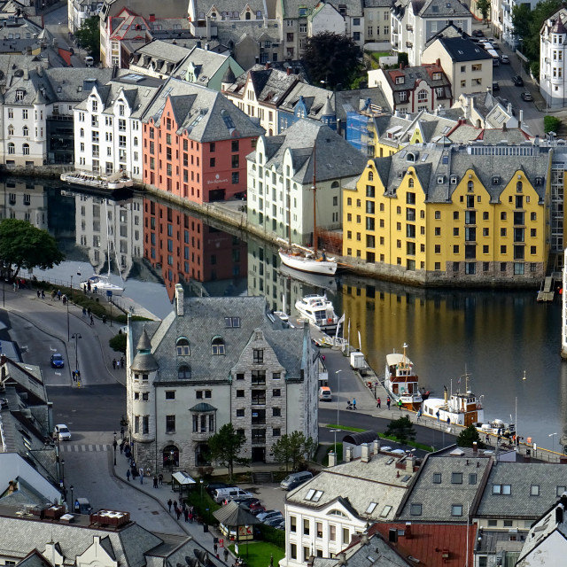 """Alesund the Art Nouveau town"" stock image"