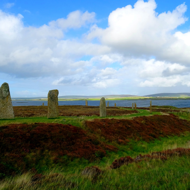"""Ring of Brodgar, Orkneys, Scotland"" stock image"