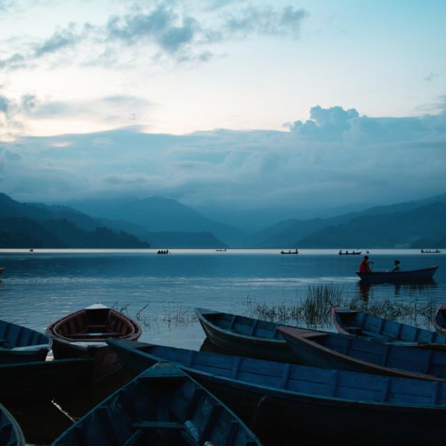 """""""Lake Phewa"""" stock image"""