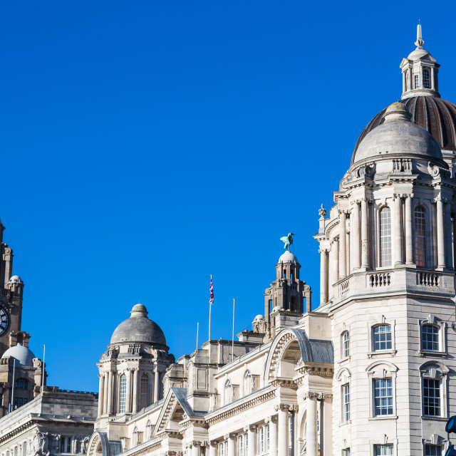 """Three Graces in Liverpool"" stock image"