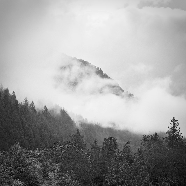 """Misty Mountain"" stock image"