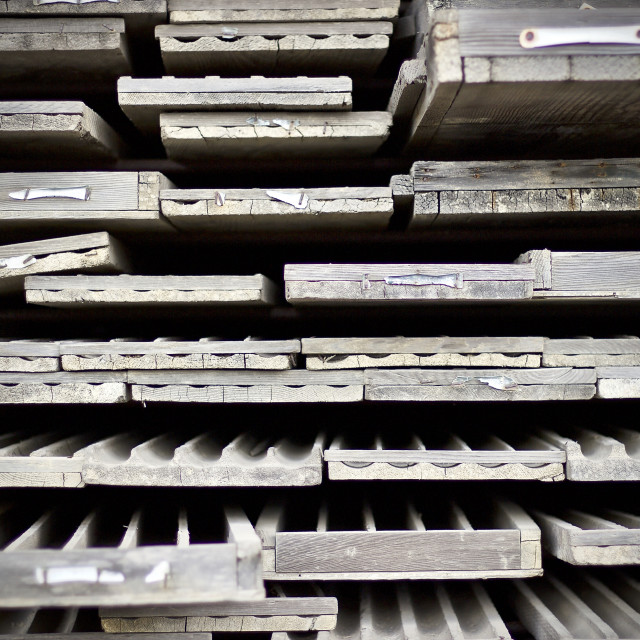 """Core sample racks"" stock image"