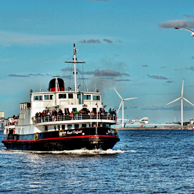 """""""Mersey Ferry Royal Daffodil"""" stock image"""