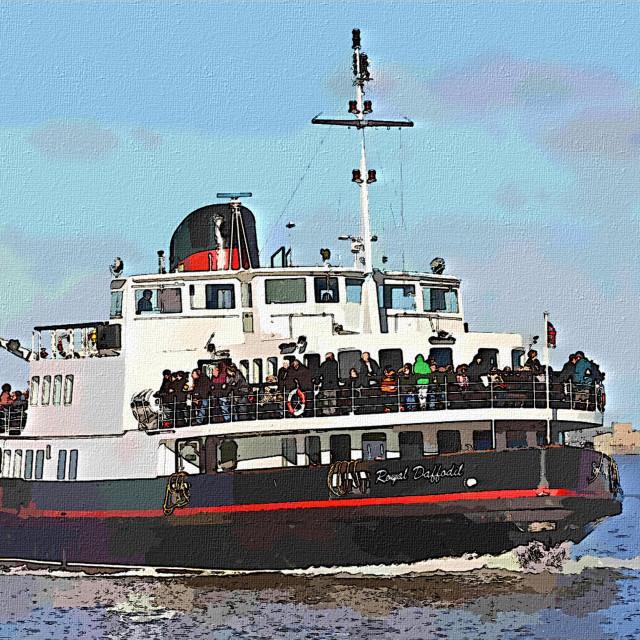 """Mersey Ferry Royal Daffodil artistic presentation"" stock image"