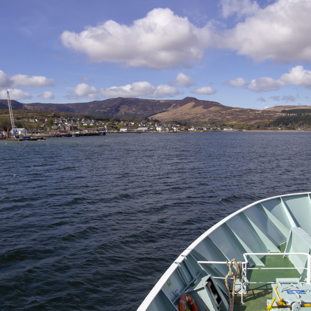 """Approaching Brodick on the Isle of Arran"" stock image"
