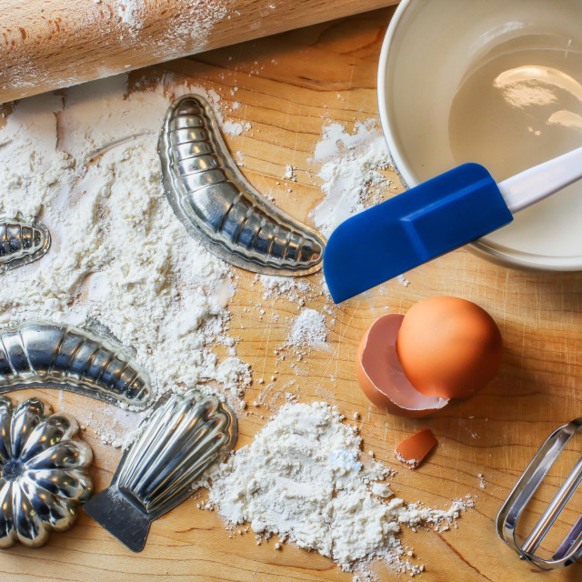 """""""Messy cooking"""" stock image"""