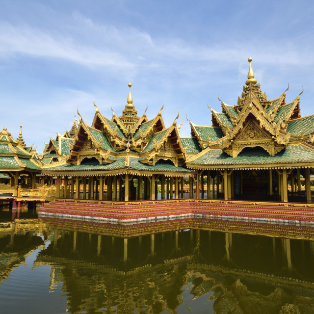 """Pavilion of the Enlightened in Ancient city in Bangkok"" stock image"