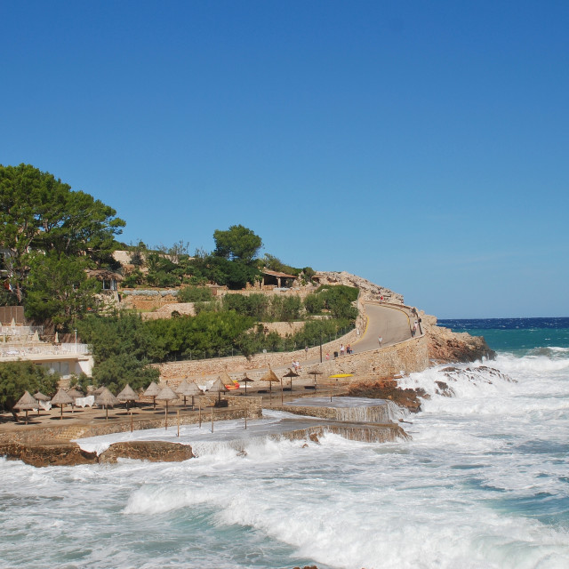 """""""Cala San Vicente storms, Majorca"""" stock image"""