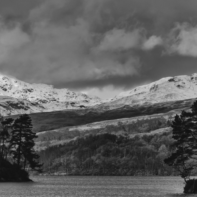 """A winter's loch"" stock image"