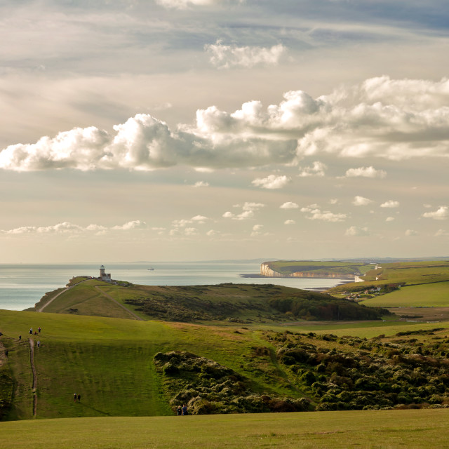 """Belle Tout Lighthouse in the Autumn Sun"" stock image"