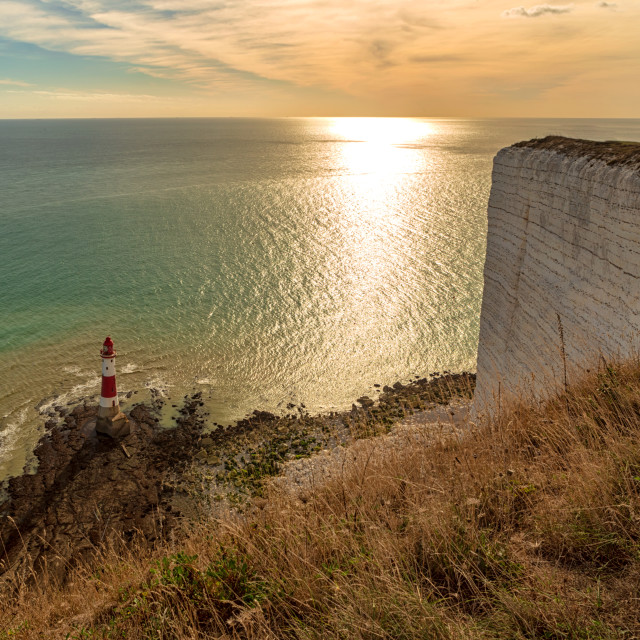 """Beachy Head Lighthouse in the Autumn Sun 2"" stock image"