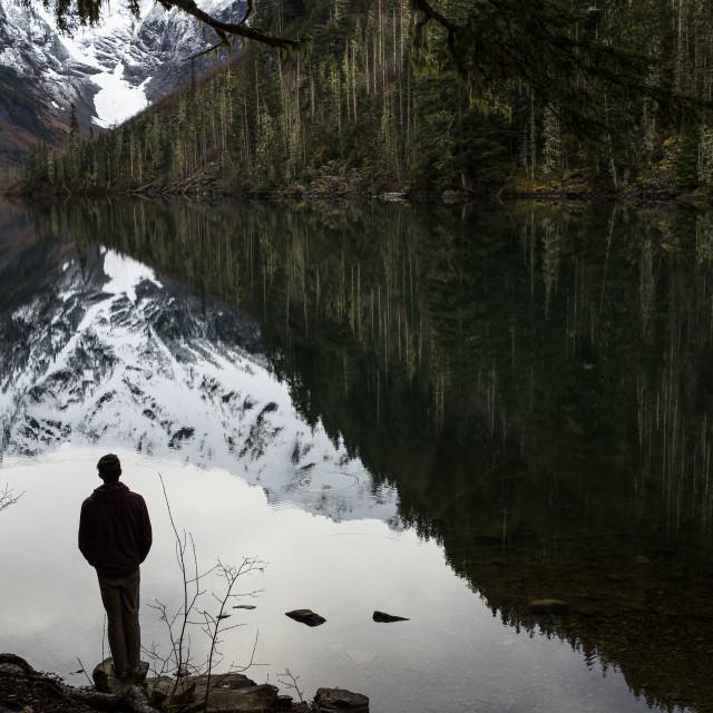 """""""Goat Lake, Washington"""" stock image"""