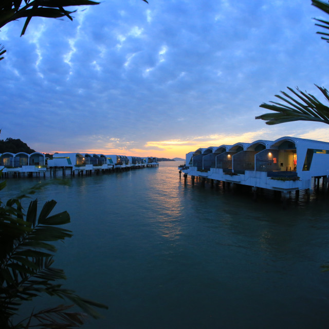 """sunrise at the lexis hibiscus Port dickson"" stock image"