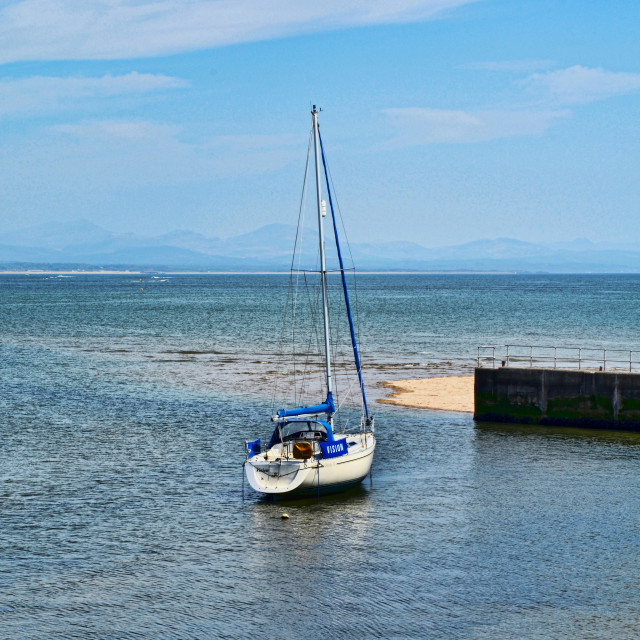"""Small harbour at Abersock in North Wales"" stock image"