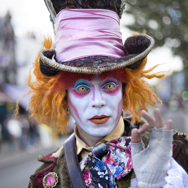 """""""The Mad Hatter"""" stock image"""