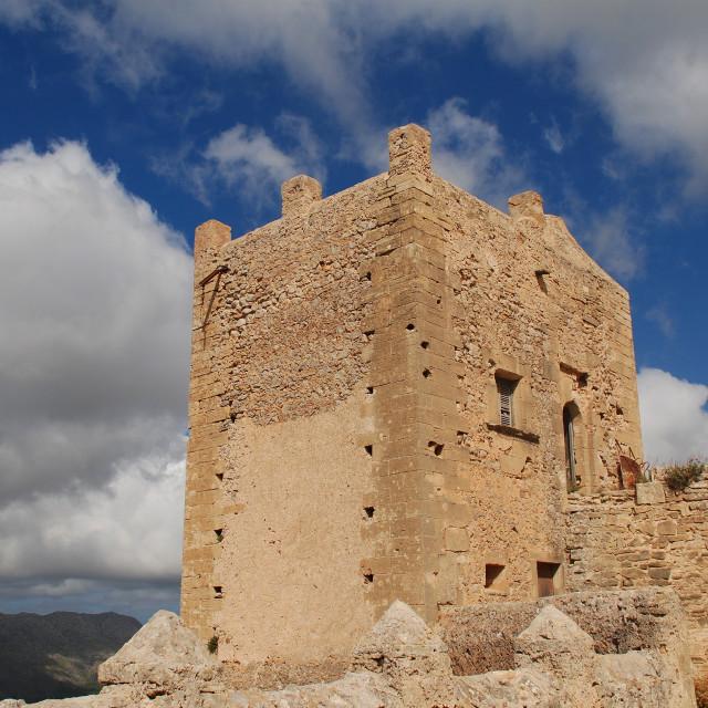 """Monastery of Puig de Maria, Majorca"" stock image"