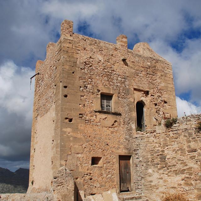 """Puig de Maria monastery, Majorca"" stock image"
