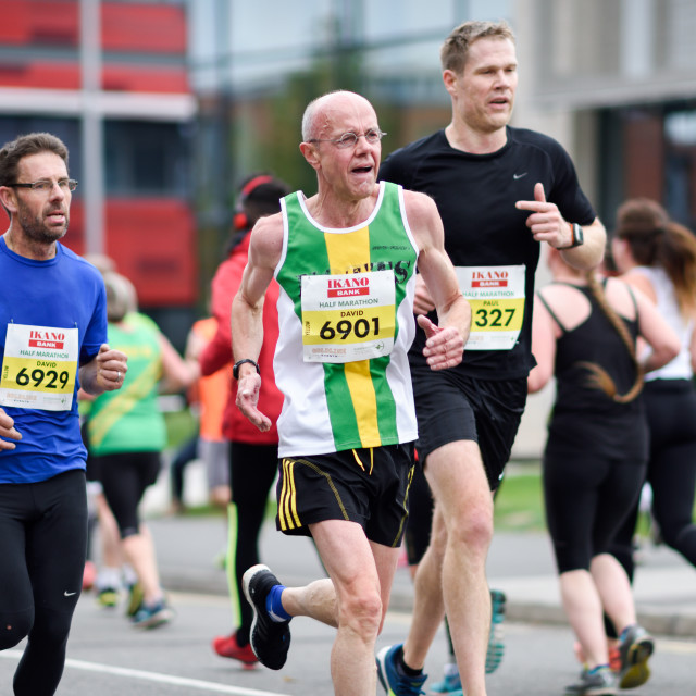 """Ikano Bank Robin Hood Marathon,UK."" stock image"