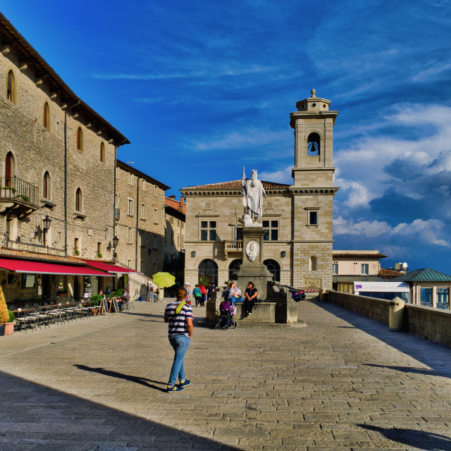 """San Marino City"" stock image"