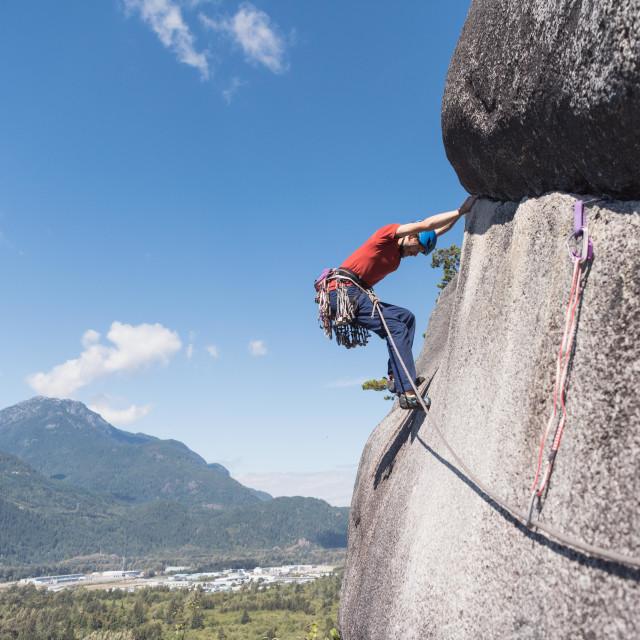 """Climbing in Canada"" stock image"