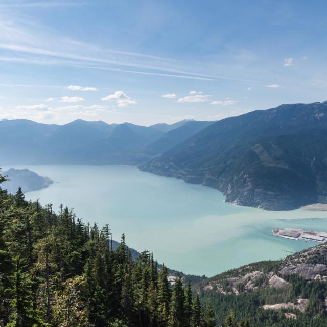 """The Howe Sound, Squamish"" stock image"