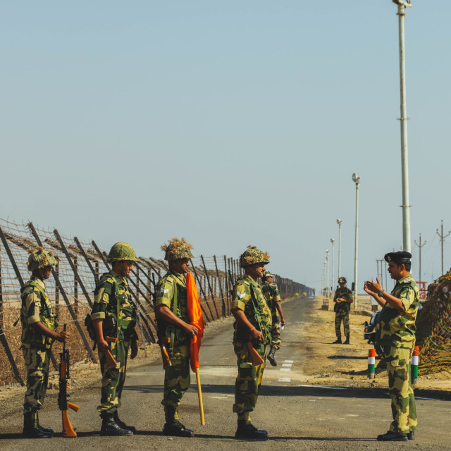 """BSF Soldiers at Indian Border"" stock image"