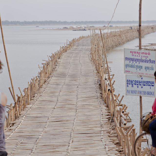 """Bamboo Bridge"" stock image"