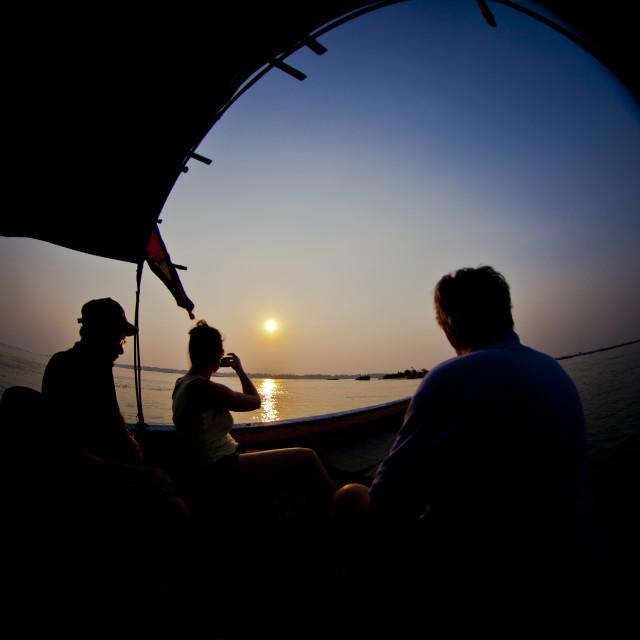 """Mekong Solitude"" stock image"