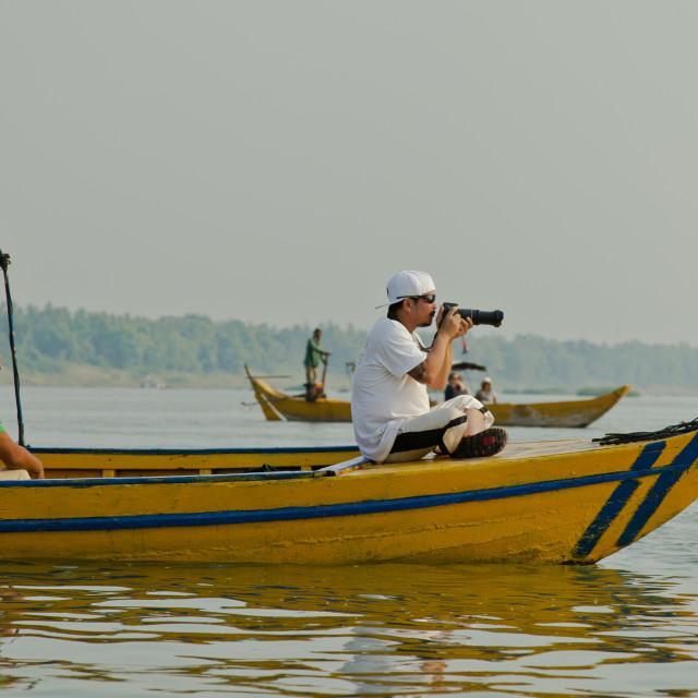 """""""On the Mekong"""" stock image"""