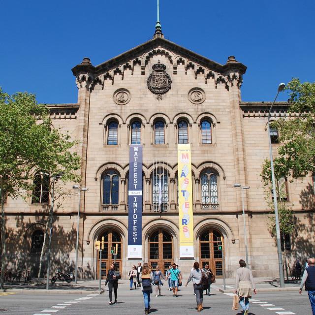 """Barcelona University, Catalonia"" stock image"