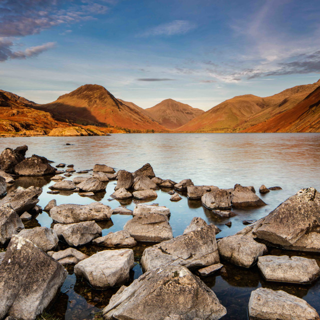 """""""Wast Water at sunset"""" stock image"""