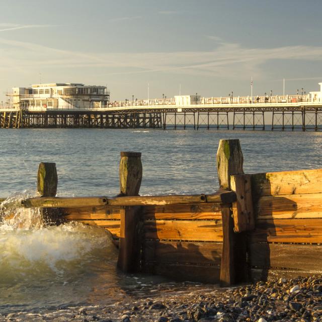 """Worthing Beach Sussex"" stock image"