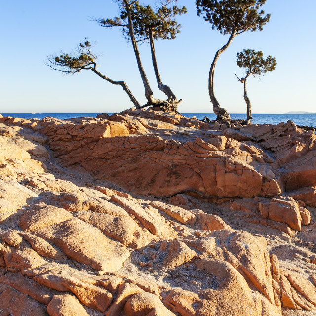 """famous beach in corsica"" stock image"