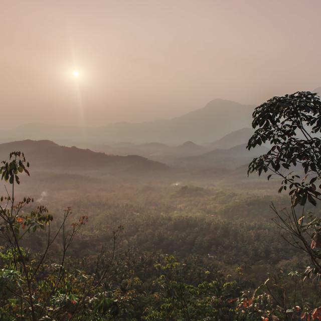 """sunset in kerala"" stock image"