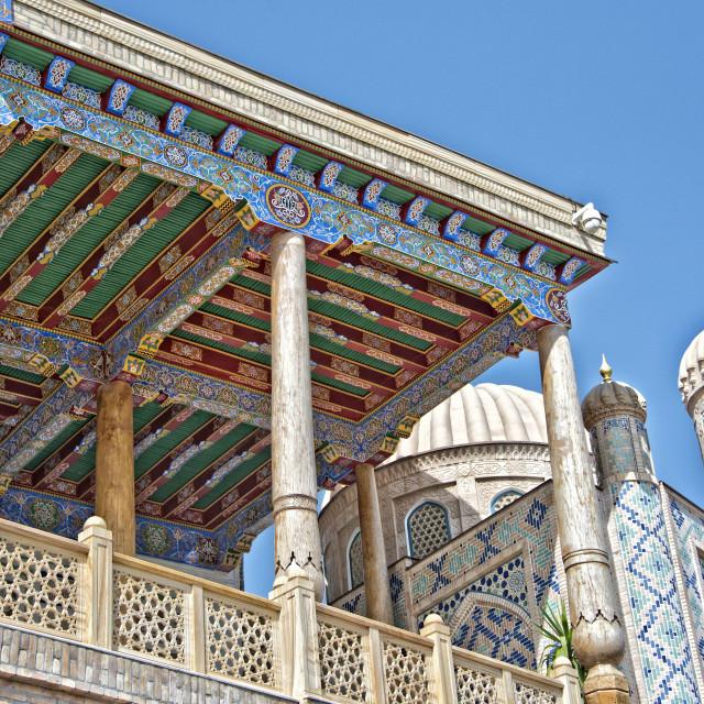 """Hazrat Hizr Mosque, Samarkand, Uzbekistan"" stock image"