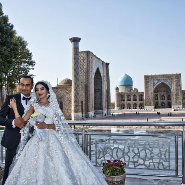 """Wedding in Samarkand"" stock image"