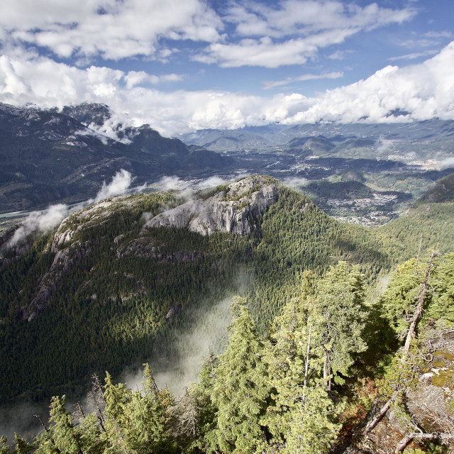 """Overlooking The Chief, BC"" stock image"
