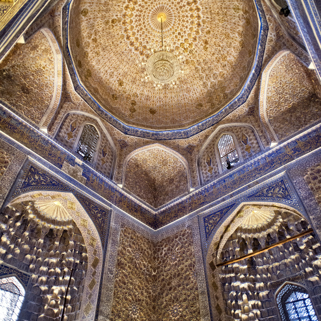 """Inside the Amir Temur mausoleum, Samarkand"" stock image"