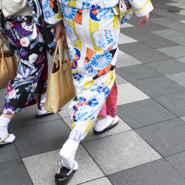 """""""Kimono in-step"""" stock image"""