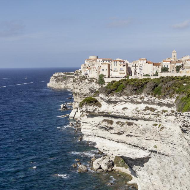 """view on bonifacio corsica"" stock image"