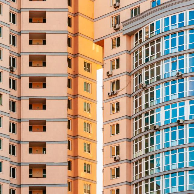 """""""Modern building detail in Kiev, Ukraine"""" stock image"""