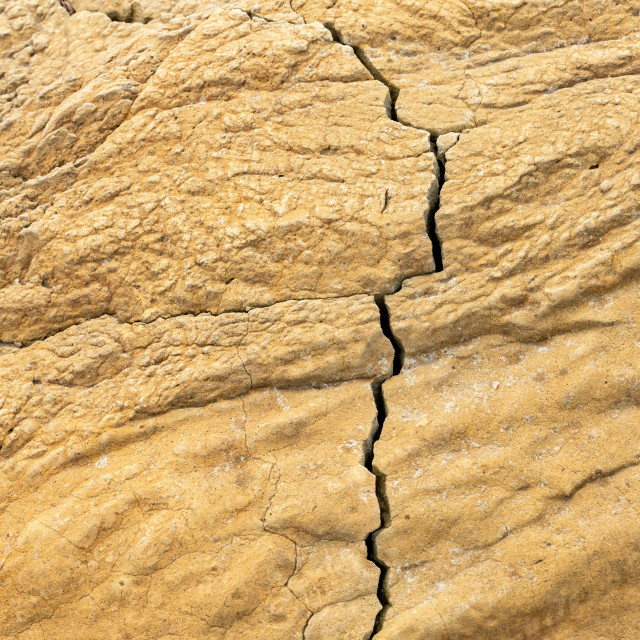 """""""Brown Eroded Rock Texture with Fault"""" stock image"""