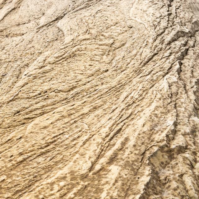 """A Brown Eroder Rock Texture"" stock image"