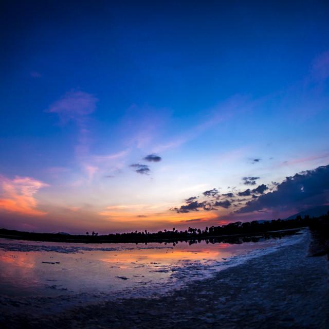 """Salt Field Sunset"" stock image"