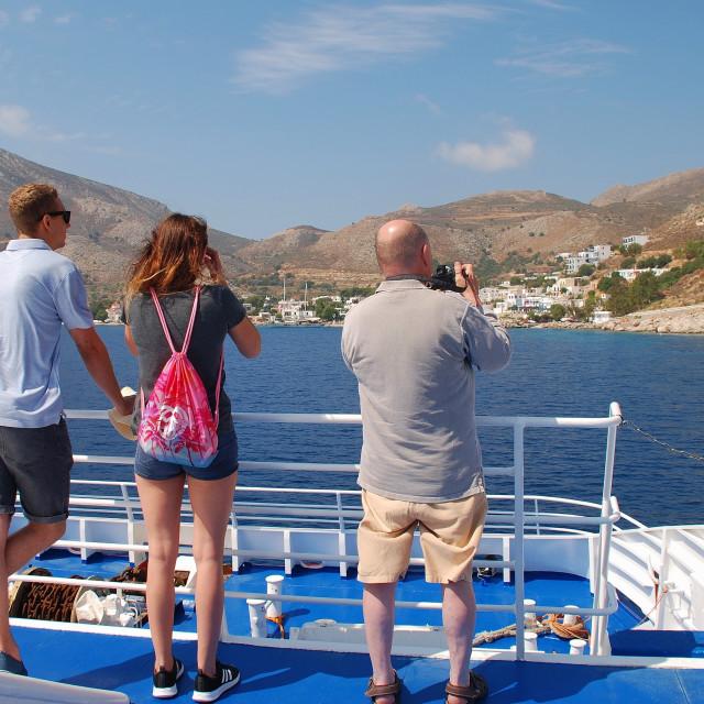 """Ferry to Tilos, Greece"" stock image"