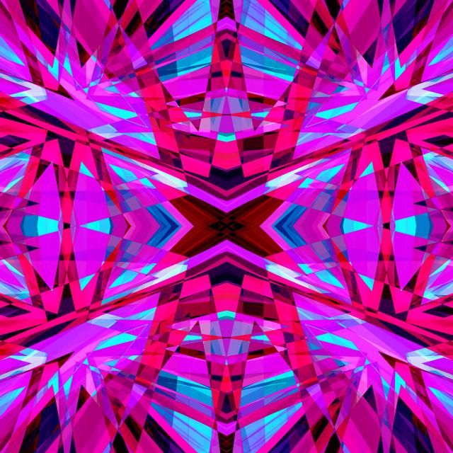 """""""Purple and pink kaleidoscope pattern"""" stock image"""