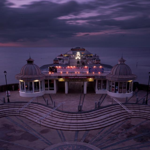 """Cromer Pier at Night"" stock image"