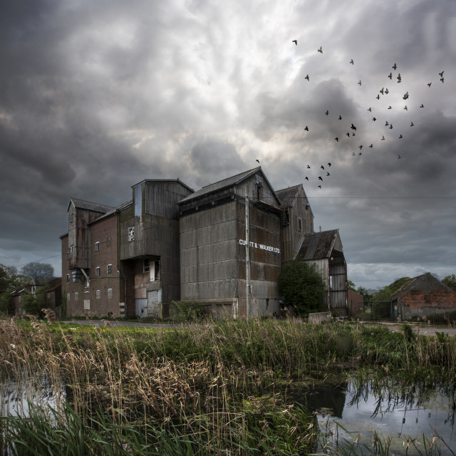 """""""Abandoned Mill"""" stock image"""