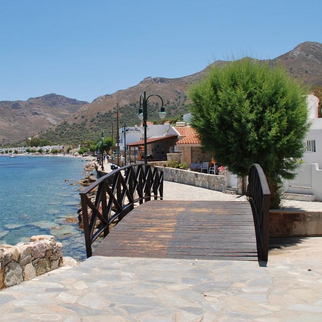 """Tilos island seafront, Greece"" stock image"