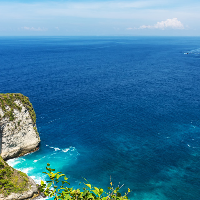 """Kelingking beach Nusa Penida island, Bali, Indonesia."" stock image"